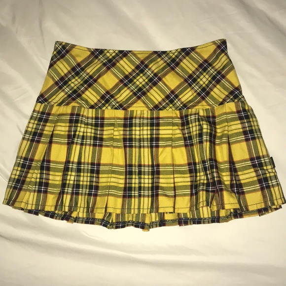 7f7573e99 Hot Topic Skirts | Yellow Plaid School Girl Skirt | Poshmark